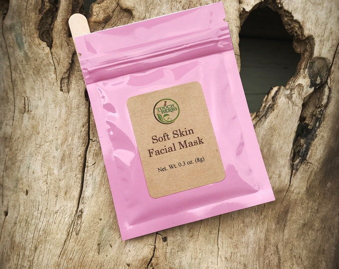 Single Use Facial Mask - Face Mask for softer skin - Herbal Facial Mask - Soft Skin Facial - Touch of Herbs Facial Masks - Small Gift Favors