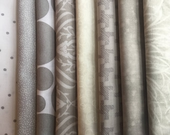 Gray Fat Quarter Bundle curated by Color Wheel Quilts