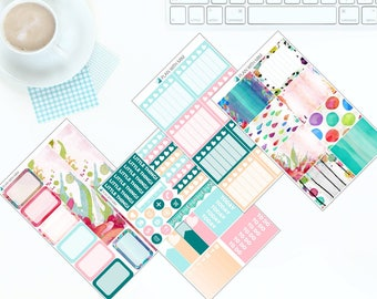 Watercolour Wash - Weekly Kit Stickers for Erin Condren Vertical LifePlanner *NEW PREMIUM PAPER!*