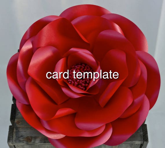 Giant Wild Rose Paper Flower Template and Tutorial (Hardcopy card template)