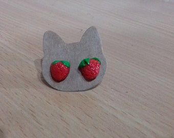 Strawberry earrings
