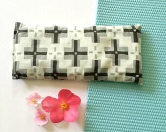 Mens eye pillow, Fathers Day gift, lavender pillow, flaxseed pillow, yoga pillow, aromatherapy, neutral eye pillow, Parson Grey