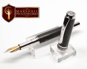Fountain Pen - Irish Bog Oak - Handmade Pen - Custom Fountain Pen - Gift for Him - Gift for her