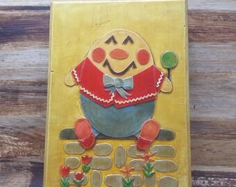 Humpty Dumpty Vintage Wall Plaque, 1960s-1970s