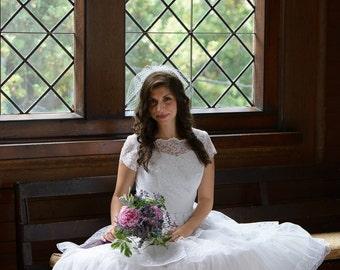 1950's style vintage bridal dress wedding gown SALE