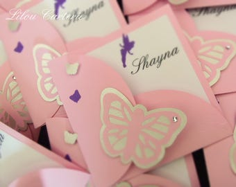 Send original baptism or baby girl Butterfly theme