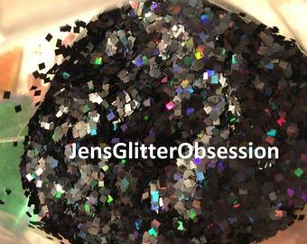Nail Art Glitter / 2MM Holographic Glitter/sequins/ nail art/ crafts/ square shaped spangles glitter