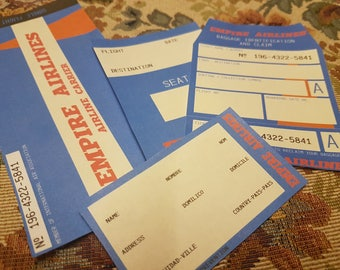 1960s Airline Ticket + Extras