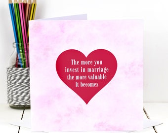 Wedding Card; Romantic Card; Heart Card; Love Card; Love Card; Anniversary Card; Card For Couple; GC417