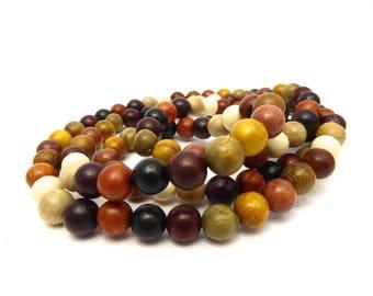 Bead of sandalwood, Buddhist, mixed color, Buddha, meditation, 8 mm, sold per 10