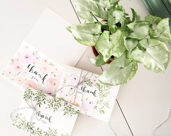 Floral Thank You Notes