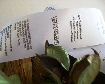 50pcs - Custom fold over satin label - Fold over satin tag - Custom logo labels - Custom brand label