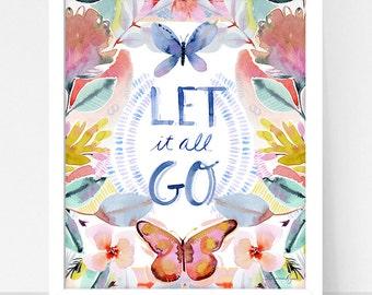 Art Print Hydrangea and Let it Go