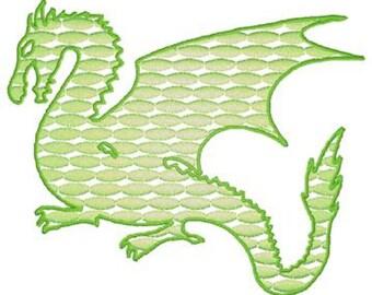 Machine Embroidery Dragon
