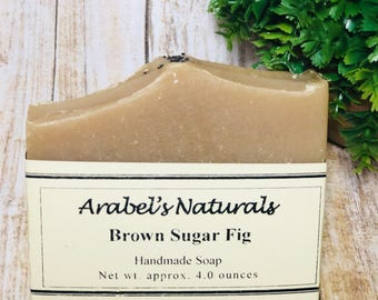 Brown Sugar and Fig Soap Handmade Cold Process Soap - Brown Sugar Fig Soap - Handmade Soap - Brown Sugar Homemade Soap - Artisan Soap
