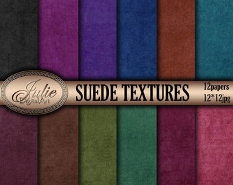 Suede digital paper Velvet textures patterns Shabby backgrounds. Instant Download