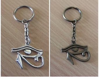 Eye of Horus Keychain Eye of Horus Keyring Bronze tone Eye of Ra Keyring Egyptology African Accessories
