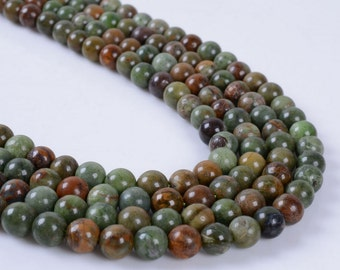 "6MM279 6mm Green opal round ball loose gemstone beads 16"""
