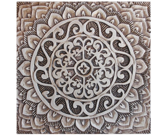 Mandala ceramic art // Ceramic tile // Decorative tile //
