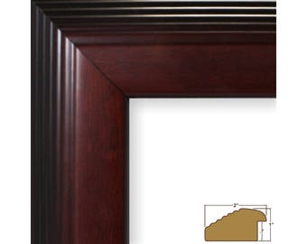 "Craig Frames, 11x17 Inch Mahogany Red Picture Frame, Bisbee, 2"" Wide (62611117)"