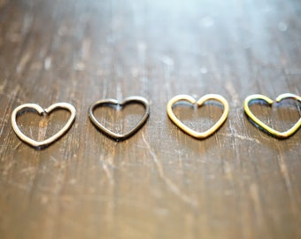 Silver heart hoop, rook piercing, daith earring, tragus hoop, cartilage earring, safety earring,  helix, conch jewellry stainless steel