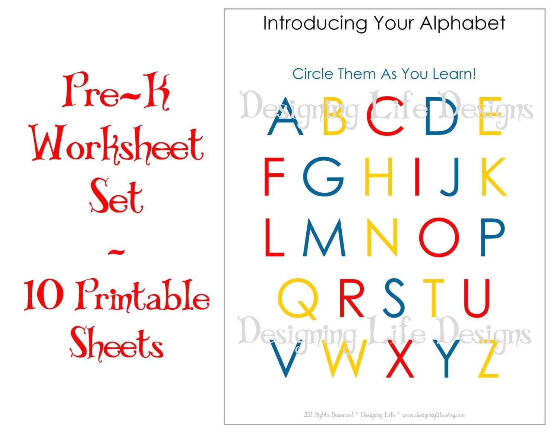 Worksheets Pre K Worksheets Printable homeschool worksheets 10 printable pages for pre k to