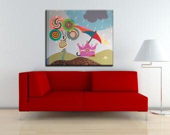 Pop Art Canvas, Original Acrylic Painting Canvas, Original Abstract Painting, Original Art Work, Acrylic Painting Canvas Art, Crown Painting