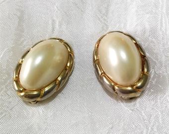 Vintage Oval Clip Earrings