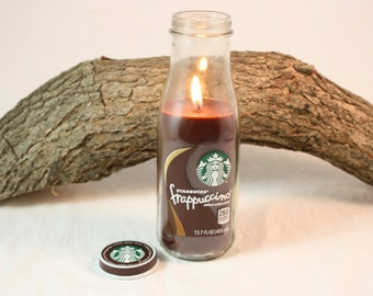 Coffee Candle in Upcycled Starbucks Bottle, Your Choice of Coffee Scent, Coffee Lover Gift, Great Gift for Starbucks Fan, Starbucks Candle