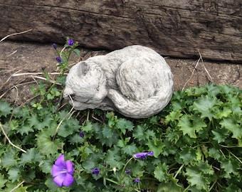 Cat memorial statue etsy tiny stone cat kitten sleeping garden ornament pet memorial workwithnaturefo
