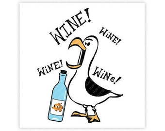 Disney, Seagull, Wine, Finding Nemo, Finding Dory, Epcot, Food, Digital, Download, TShirt, Cut File, SVG, Iron on, Transfer