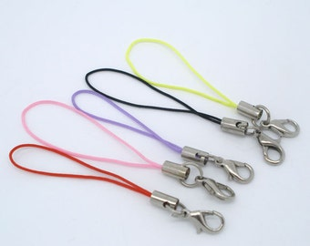 10 pcs. Assortment of Cell Phone Camera Lanyards - Lobster Clasps - 0.7mm - 70mm long (2.75 inches) - Claw Clasps
