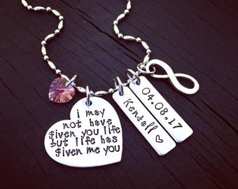 I May Not Have Given You Life But Life Has Given Me You Necklace | Stepdaughter Jewelry | Gift From Stepmom To Stepdaughter | Adoption Gift