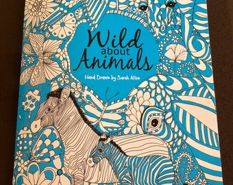 Wild about Animals, Adult Colouring Book, A4.