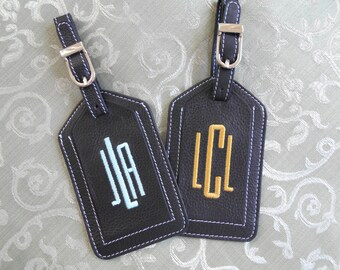 Luggage Tag--Modern Narrow Font