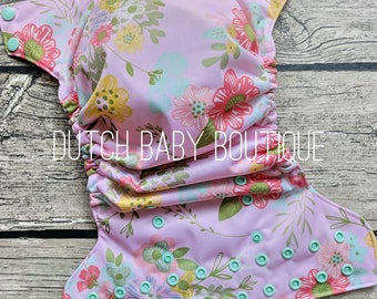 Spring Florals Cloth Diaper - Made To Order