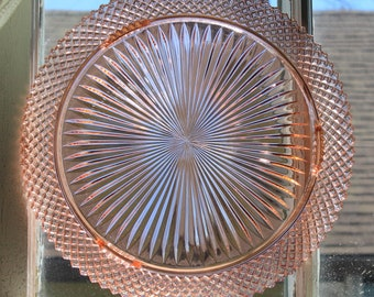 Gorgeous Large Antique Miss America Pink Depression Glass Footed Cake Plate/Stand/Tray by Hocking Glass