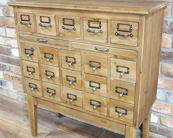 Apothecary Cabinet - Storage - Industrial Style - Chest Drawers