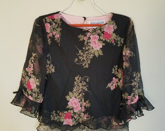 Jessica Howard Floral Blouse