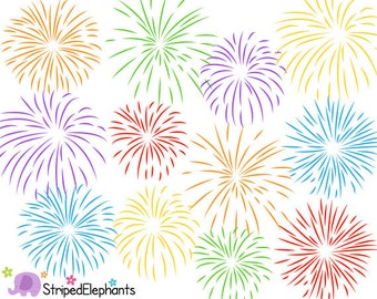 Firework Clip Art - Digital Clipart - Instant Download - Commercial Use