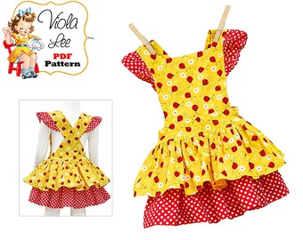 Girl's Sewing Pattern. Baby Romper Pattern, Infant Sewing Pattern, Girl's Dress Pattern. pdf Sewing Pattern. Baby Skirt Pattern. Amelia