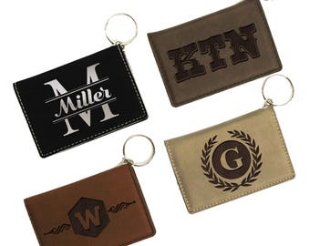 Wallet Keychain, Personalized ID Holder, ID Wallet Keychain, Personalized ID Wallet, Keychain Wallet, Badge Holder, License Holder