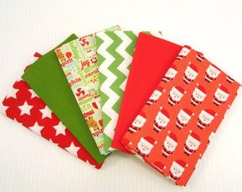 Christmas Fabric Bundle #2 - 6 Coordinating Riley Blake Fabrics