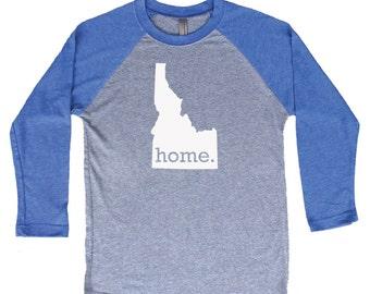 Homeland Tees Idaho Home Tri-Blend Raglan Baseball Shirt