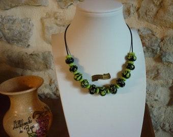 necklace, Murano glass beads