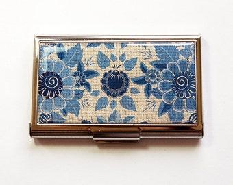Sewing Needle case, Needle organizer, Needle case, Needle holder, gift for quilter, Quilting Needle case, Flora, blue, Flowers (4990)