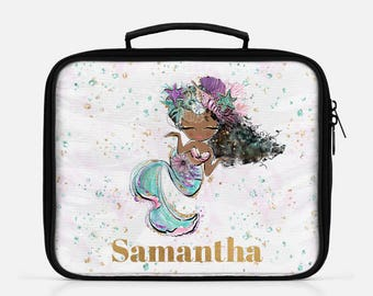 Personalized Mermaid Lunch Box Mermaid Lunch Bag Back To School Lunch Tote School Lunch Box Personalized Lunch Insulated Girls Lunch Box