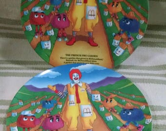 The French Fry Garden Plates McDonald's