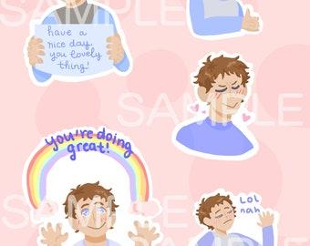 Happy-ish Lance Stickers!!