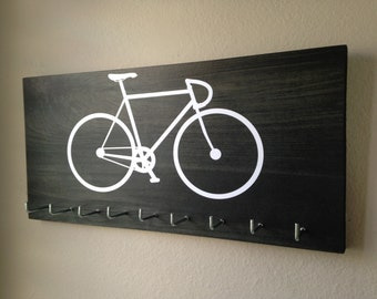 Race Medal - Simple Bike in Dark Gray and White